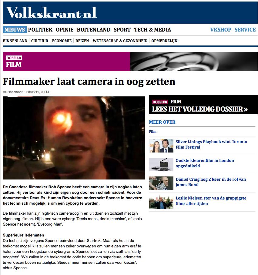 Filmmaker laat camera in oog zetten - film - VK 2012-11-11 16-20-50