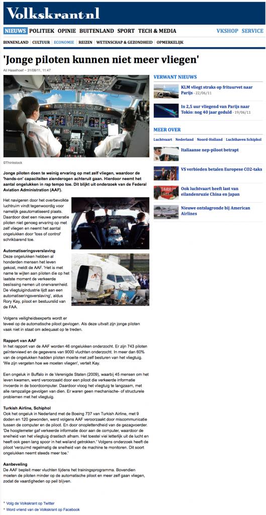 'Jonge piloten kunnen niet meer vliegen' - Economie - VK 2012-11-11 16-47-35