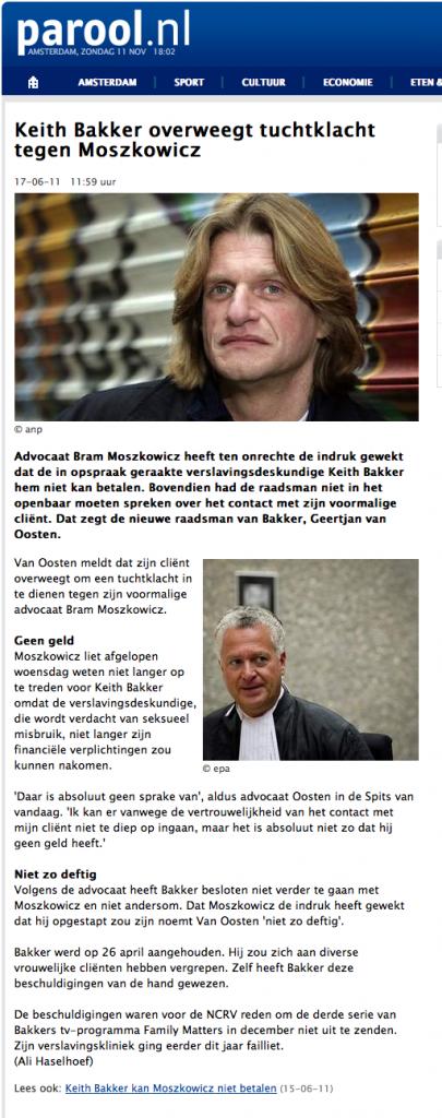 Keith Bakker overweegt tuchtklacht tegen Moszkowicz - MEDIA - PAROOL 2012-11-11 18-03-26