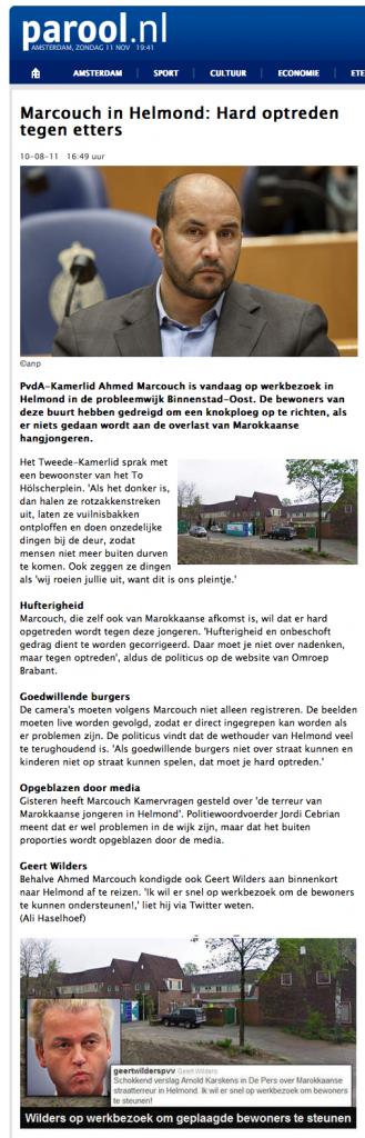 Marcouch in Helmond: Hard optreden tegen etters - BINNENLAND - PAROOL 2012-11-11 19-41-56
