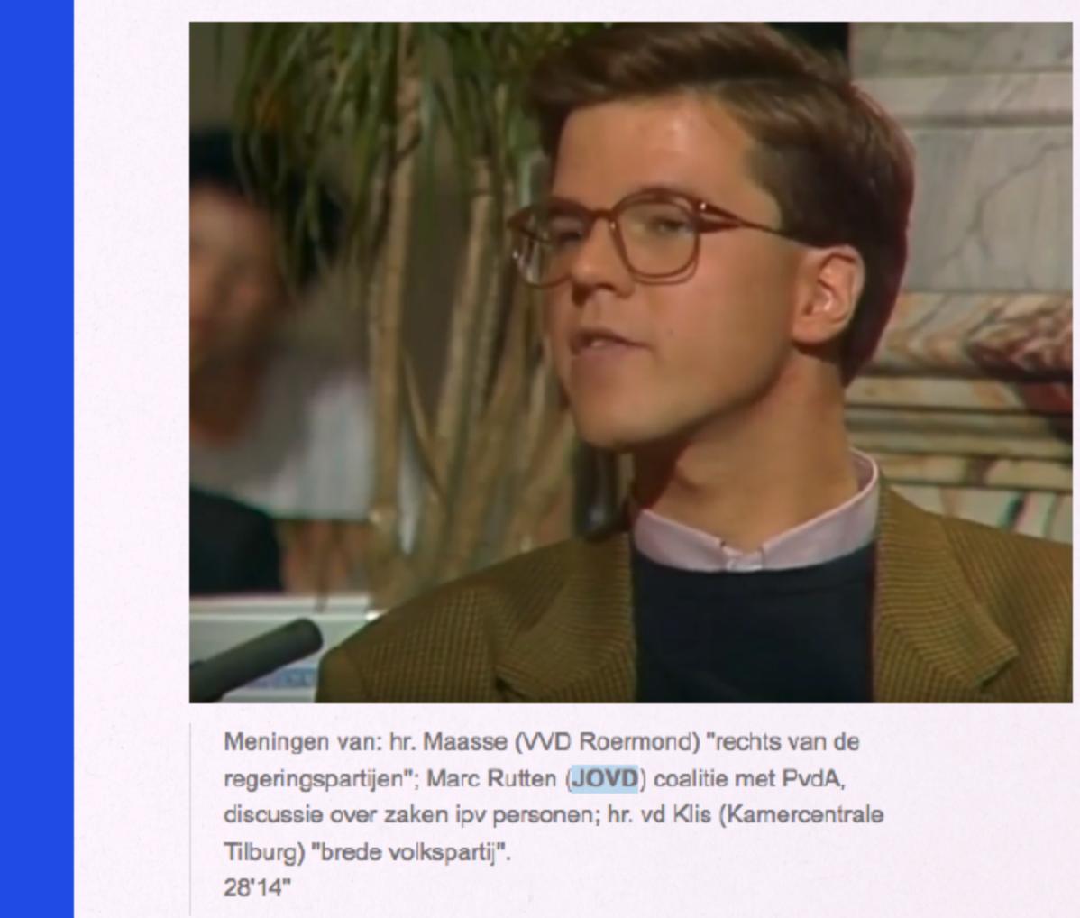 Jonge Mark Rutte